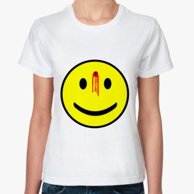 Классическая футболка Простреленный смаил