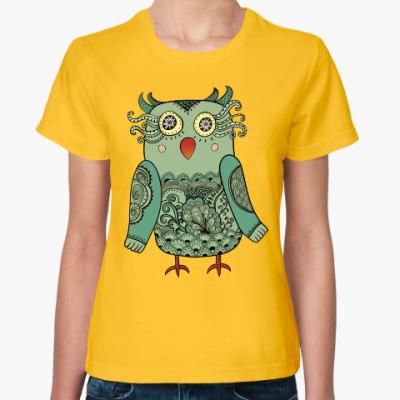 Женская футболка Лесная совушка