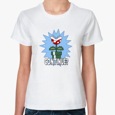 Классическая футболка Continue?