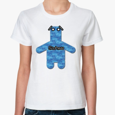 Классическая футболка грусть