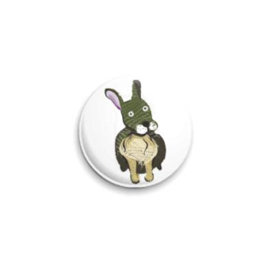 Значок 25мм Плюшевый кролик