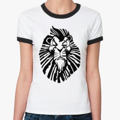 Женская футболка Ringer-T Важный лев