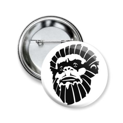 Значок 50мм Лицо обезьяны