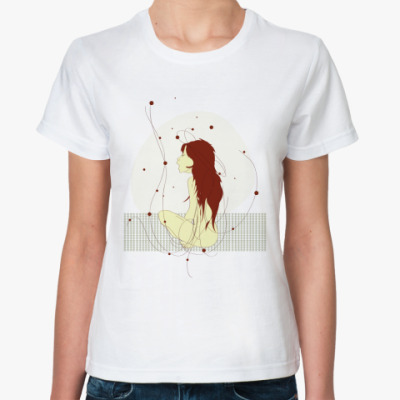 Классическая футболка Girl alone
