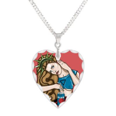 Кулон 'сердце' Lana Del Rey