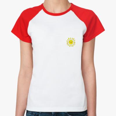 Женская футболка реглан   Sun