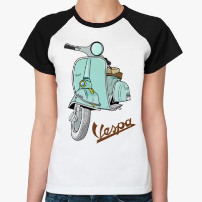 Женская футболка реглан   Vespa