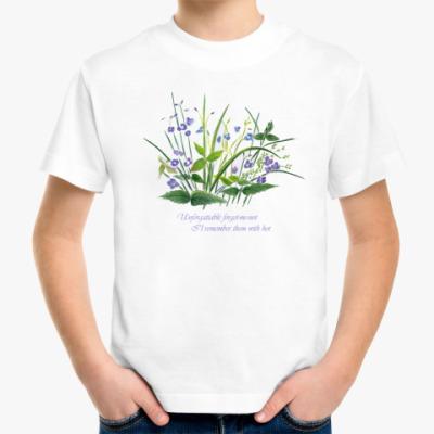 Детская футболка незабудки