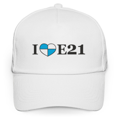 Кепка бейсболка I love E21