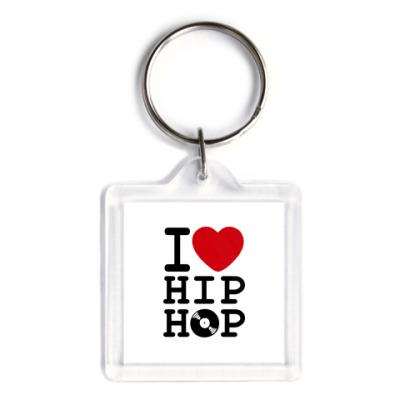 Брелок  3,9x3,9 I Love Hip Hop