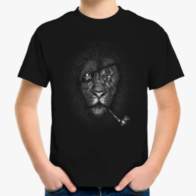 Детская футболка Лев Пират