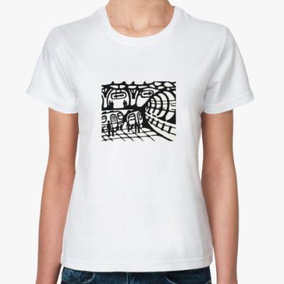 Классическая футболка футболка «метро»