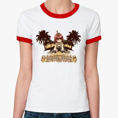 Женская футболка Ringer-T Comodo beach
