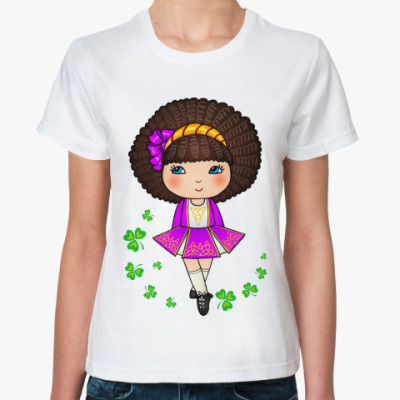 Классическая футболка Ирландская девочка