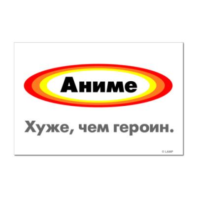 Наклейка (стикер)  «Аниме»