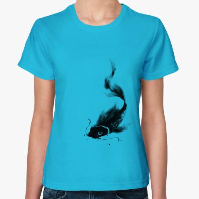 Женская футболка Карп Кои