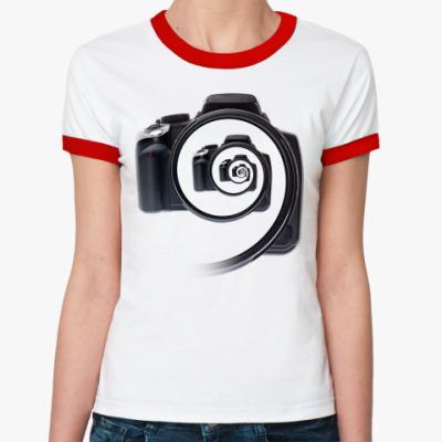 Женская футболка Ringer-T Бесконечный фотоаппарат