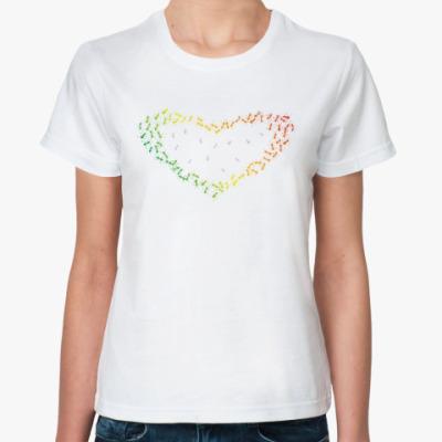 Классическая футболка 'Ants & heart'