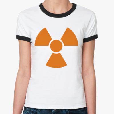 Женская футболка Ringer-T radioactive