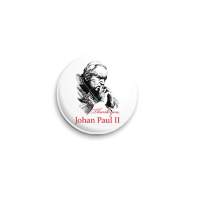 Значок 25мм Папа Иоанн Павел II
