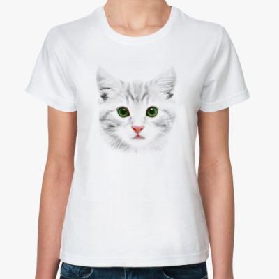 Классическая футболка  Grey Cat
