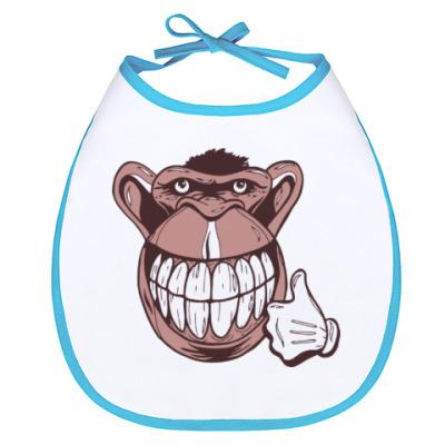 Слюнявчик Веселая обезьяна