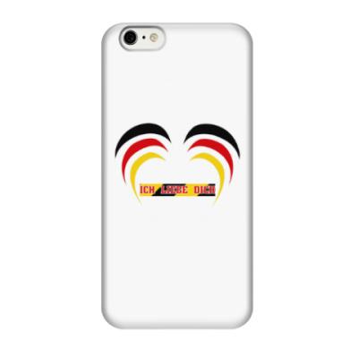 Чехол для iPhone 6/6s Я люблю тебя по-немецки