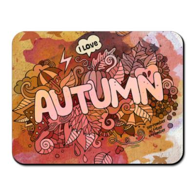 Коврик для мыши 'Я люблю Осень'