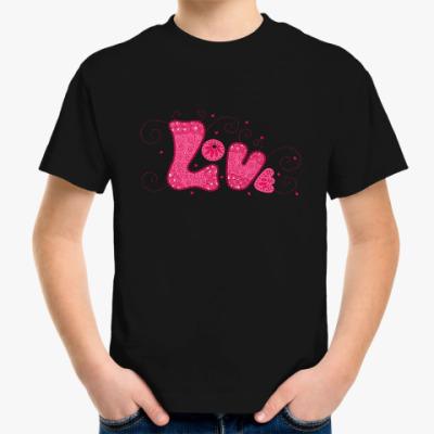 Детская футболка Pink Love