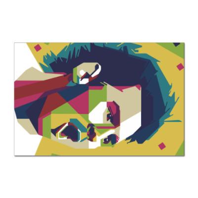 Наклейка (стикер) Color Messi