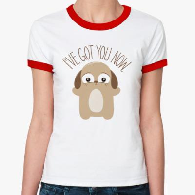 Женская футболка Ringer-T Держу тебя