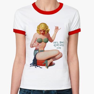 Женская футболка Ringer-T String