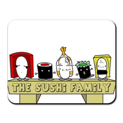 Коврик для мыши Sushi Family