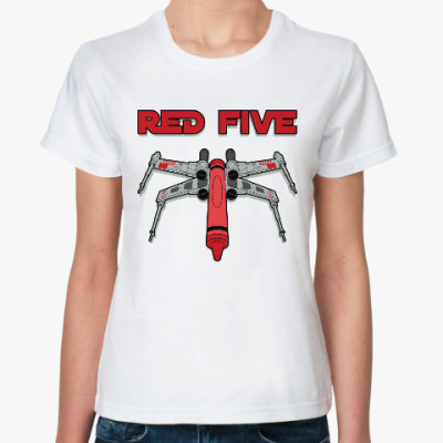 Классическая футболка Red Five (Star Wars)