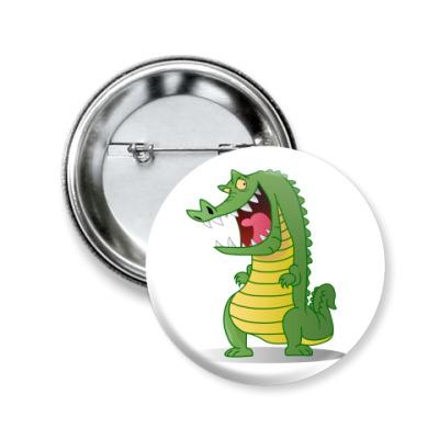 Значок 50мм Злой крокодил