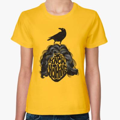 Женская футболка Сноу - Я ничего не знаю