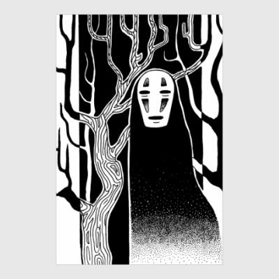 Постер Миядзаки Унесённые Призраками