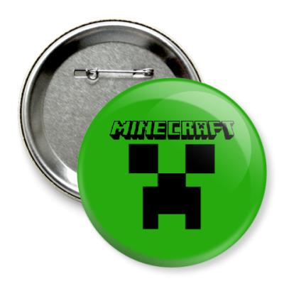 Значок 75мм Minecraft