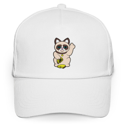Кепка бейсболка Tard Grumpy Cat Maneki Neko