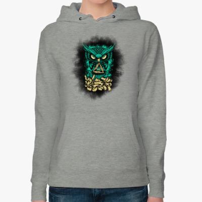Женская толстовка худи Сова (Owl) - всевидящее око