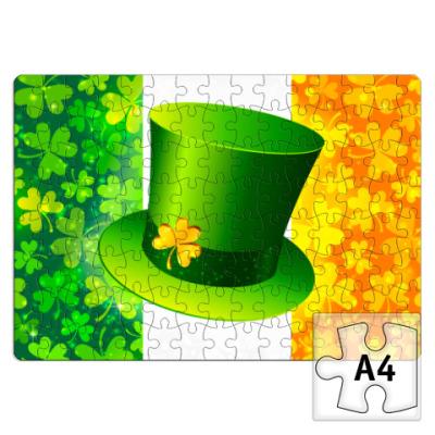 Пазл Зеленая шляпа+ирландский флаг