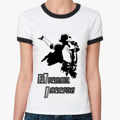 Женская футболка Ringer-T 'М.Джексон'