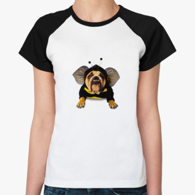 Женская футболка реглан Пчелка