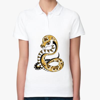 Женская рубашка поло Змея