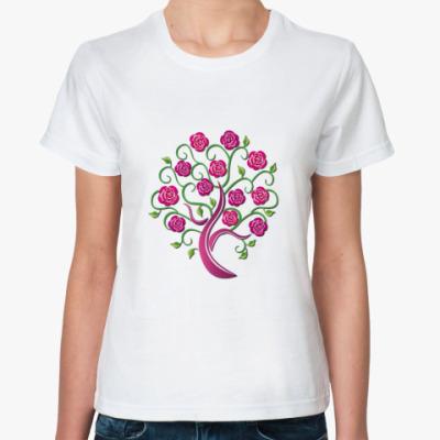 Классическая футболка Розовое дерево