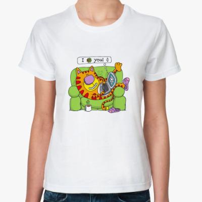 Классическая футболка  'I icq You!'