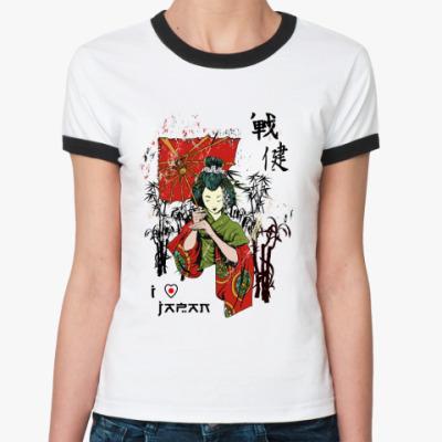 Женская футболка Ringer-T Japan