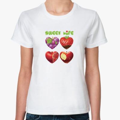 Классическая футболка Sweet life - Сладкая жизнь