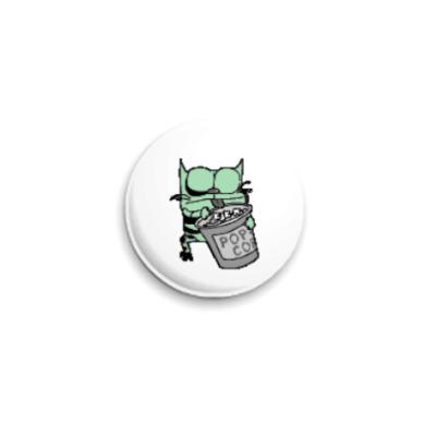 Значок 25мм Котэ-зомби