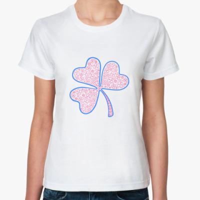 Классическая футболка Гламурный клевер